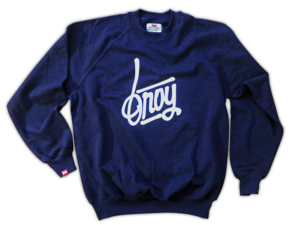 Image of Handwriting Sweater Navy