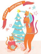 Image of Cats Christmas - Greetings Card
