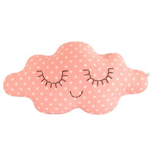 Image of Coussin nuage Rose tendre