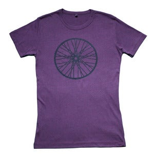 Image of Wheel t-shirt | Eggplant
