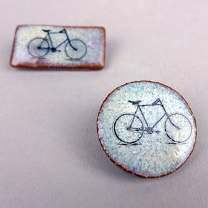 Image of Bicycle, Tandem or Pink Tree Brooch