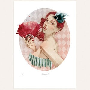 Image of 'Gorgeous' print by lodie
