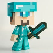 Image of MAD x MINECRAFT DIAMOND STEVE? Figure.