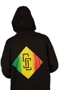 Image of Rasta blend zip hood (front/back print)