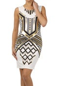 Image of Sleeveless Metallic Jane Dress