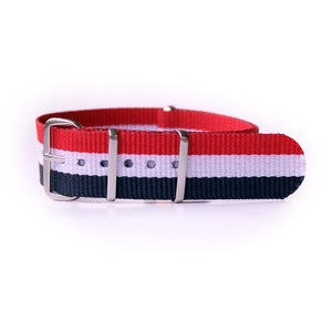 Image of Nato Strap Red/White/Blue