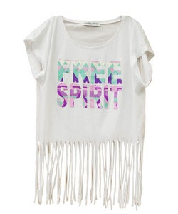 Image of FREE SPIRIT FRINGED TOP