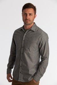 Image of GARRISON SHIRT - GREY CHAMBRAY
