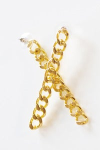 Image of chain bar earrings