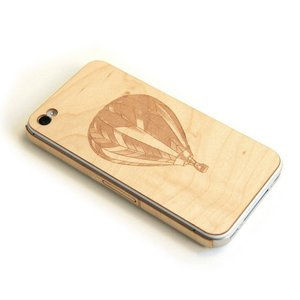 Image of iPhone wood cover Balloon Maple