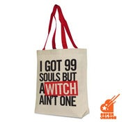 Image of anime tote bag - I got 99 souls but a witch aint one