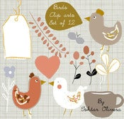 "Image of  Clip art Set "" Birds"" ♥  Set Clip arts Pajaritos"