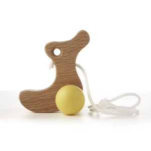 Image of Solid Oak Pull-along Duckling