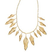 Image of Sculpted Feather Multi Drop Necklace