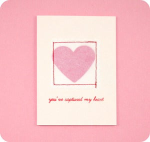 Image of Valentine's Day Sewn Card