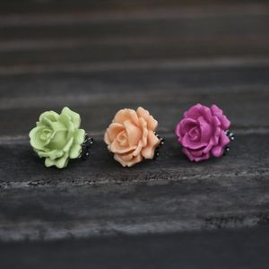 Image of Over-sized Rose Adjustable Ring - 3 Colors