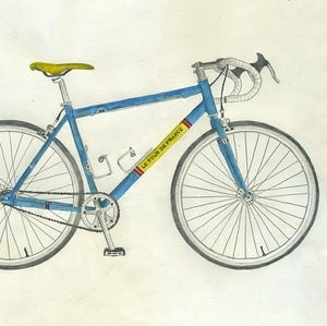 Image of Tour De France Bicycle Print