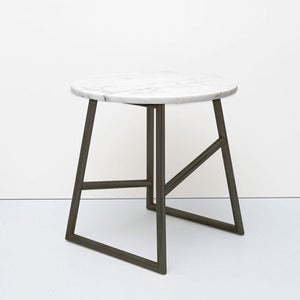 Image of Algedi Table, Black/Marble