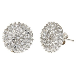 Image of Kara Ackerman&lt;i&gt; GemGirl &lt;i/&gt; Pave Disc Earring in Sterling Silver