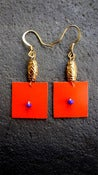 Image of Orange Thayu Earrings