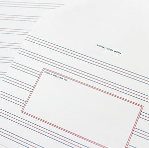 Image of French Rule Stationery - Set of 20 Sheets