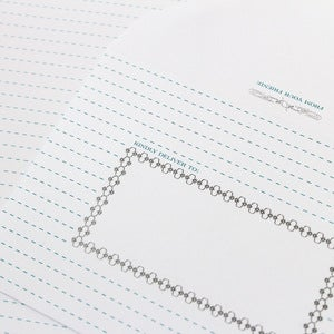 Image of Silver Border Stationery - Set of 20 Sheets