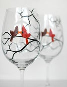 Image of Love Birds Wine Glasses