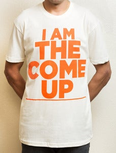 Image of I AM THE COME UP TEE - Cream/Orange