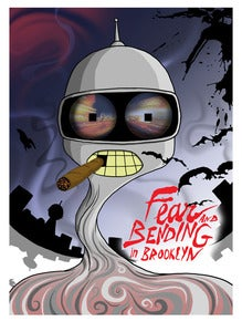 "Image of ""fear and bending"" giclee poster"