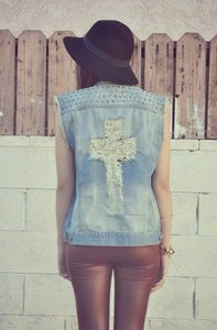 Image of Cross my Heart Vest (WAS $52)
