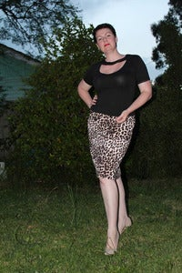 Image of 'Louisa' skirt - leopard print