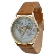 Image of Vintage Map Watch (World)