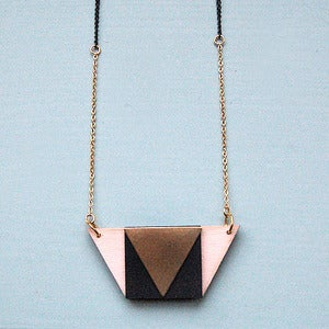 Image of Tea Rose Trapezium Necklace by Rachel Loves Bob