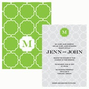 Image of Modern Hot Mama Invitation Wedding Suite