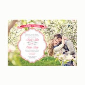 Image of My Heart Flutters for you Photo Invitation Wedding Suite