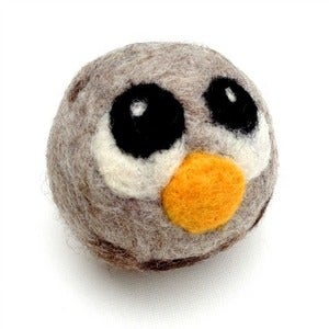 Image of Handmade Felt Owl - Grey