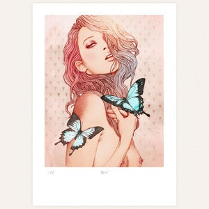 Image of 'Blue' print by Ëlodie