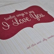 Image of 12 Ways to say &quot;I Love You&quot;~Book