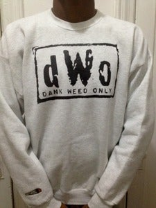 Image of DANK WEED ONLY CREW (ash/black)