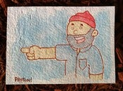 "Image of ""I want you on Team Zissou"" Original Painting"