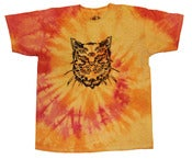 Image of Mutant cat T-shirt - Sunset tie-dye
