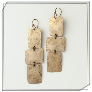 Image of Tri Sheet Earrings