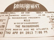 Image of Nile + Disfigurement Ticket