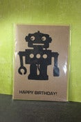 Image of Happy Birthday Robot single note card