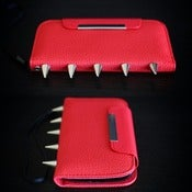 Image of Iphone 5 Red Palm Wallet (FREE SHIPPING)