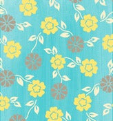 Image of Aqua Mini Floral from the Summer House Collection