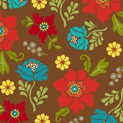 Image of Brown Large Floral from Summer House  5983-33