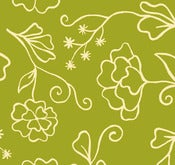 Image of Green Outline Floral from Summer House 5985-66