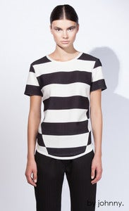 Image of The Fall Stripe Tee - Black Ivory