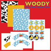 Image of Printable Woody Toy Story FULL Birthday Party Collection